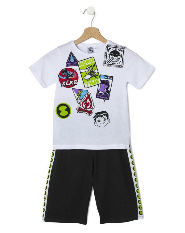 Set T-shirt e bermuda con stampa Ben Ten - Prénatal