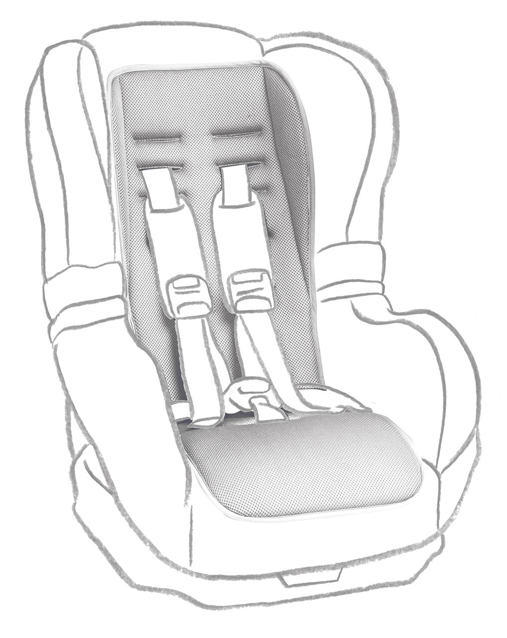Materassino in spugna per seggiolino auto - Giordani
