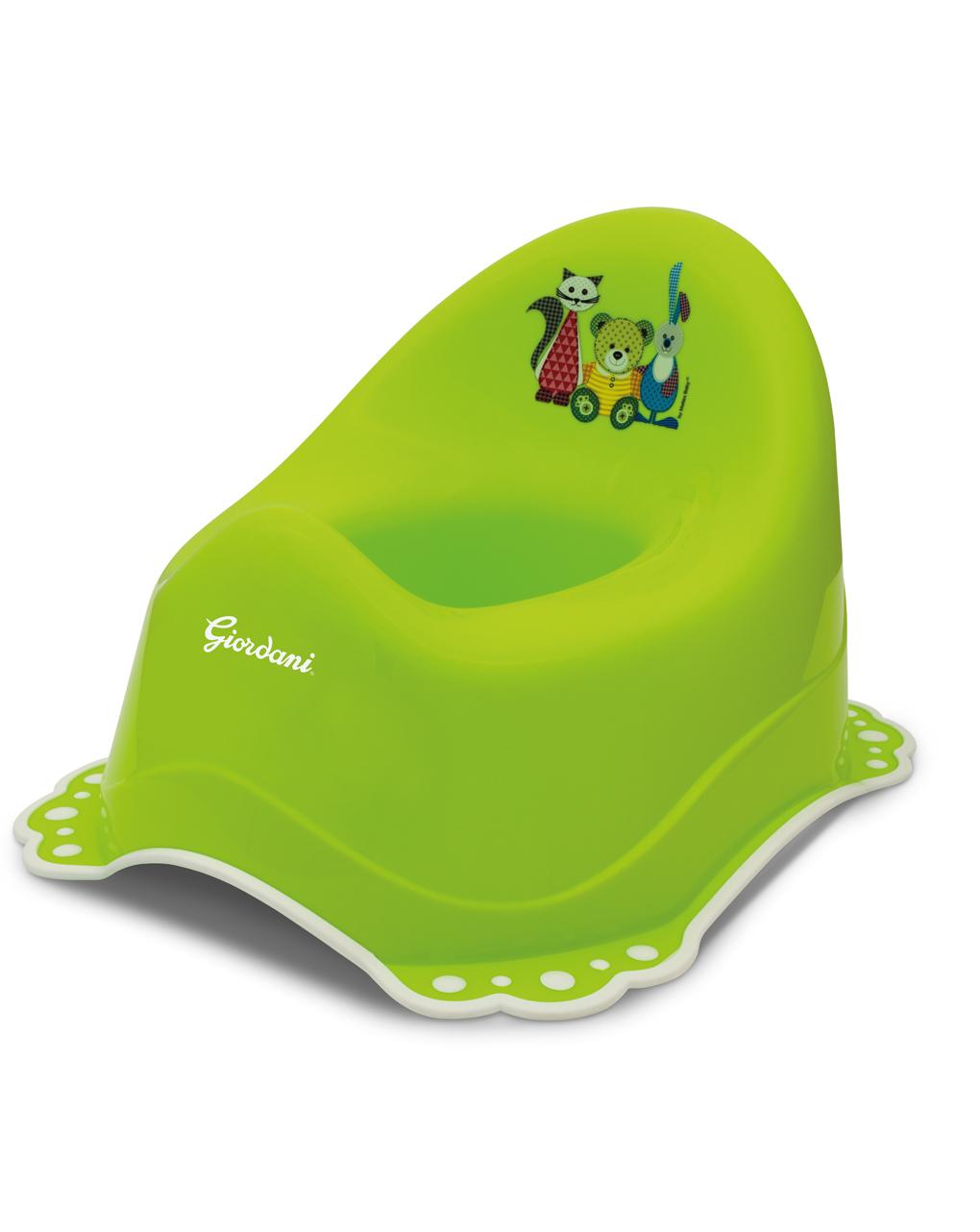 Vasino bagno con antiscivolo verde - Giordani