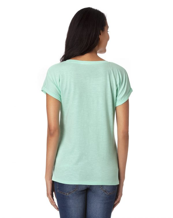 T-shirt verde acqua con scritta e cuore - Prénatal