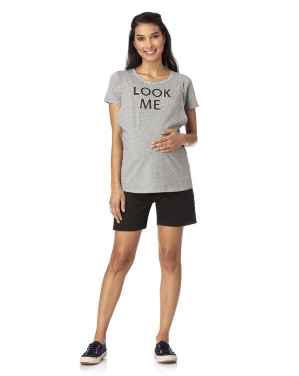 T-shirt allattamento grigio chiaro mélange - Prénatal