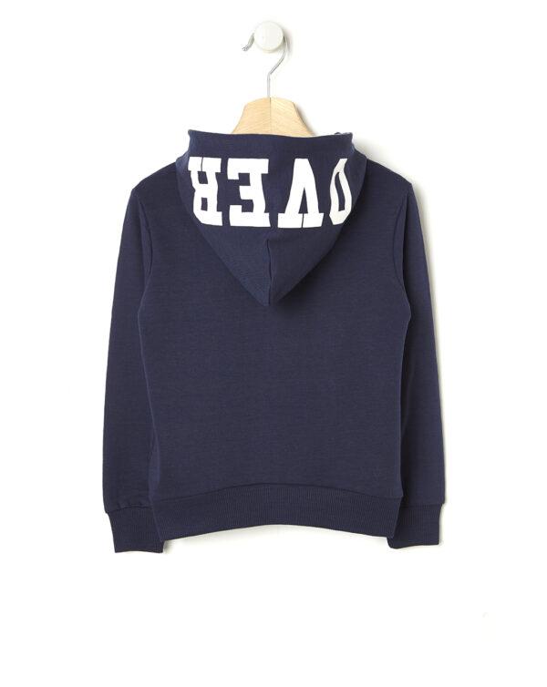 Cardigan in felpa blu e scritta Over - Prénatal