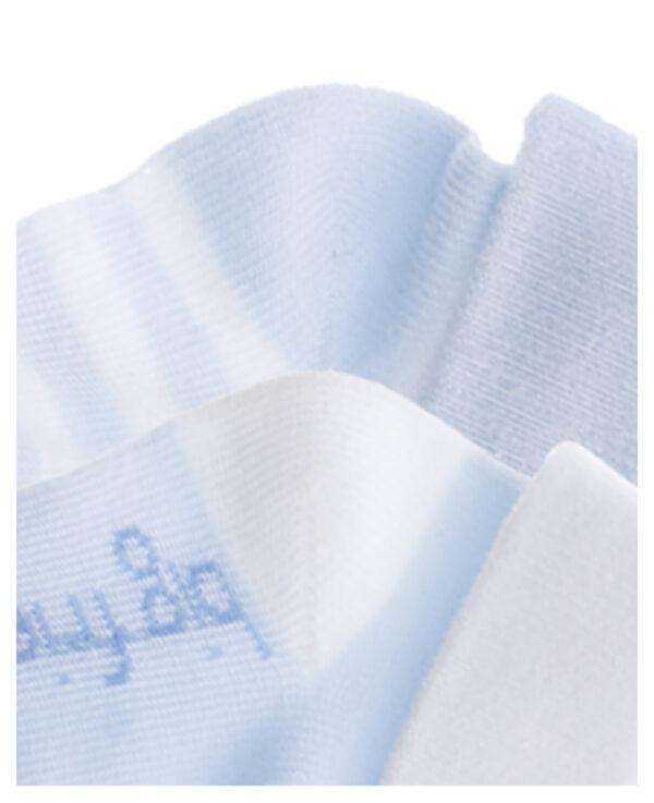 Calzine corte con svoltine bianche e azzurre - Prénatal
