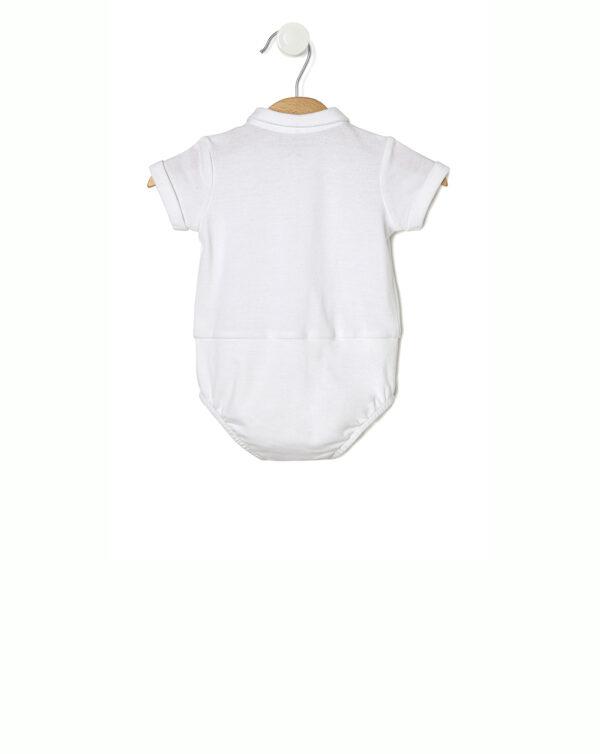 Completo con pantaloncini a righe beige e body - Prénatal