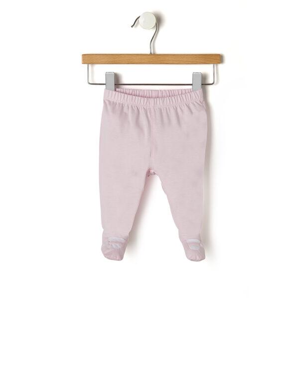 Set con maglia rosa con plastron e bianco e ghette - Prénatal