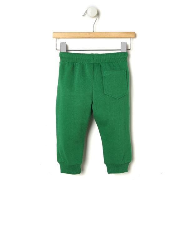 Pantaloni in felpa verde con coulisse - Prénatal