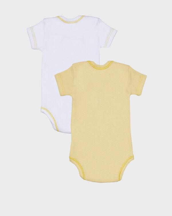 Pack 2 body mezze maniche giallo e bianco - Prénatal