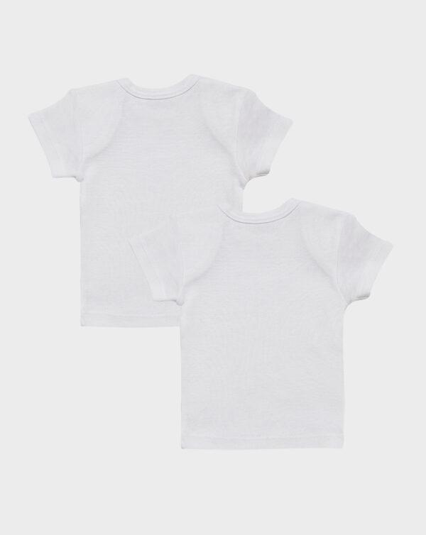 Pack 2 t-shirt cotone unisex scollo americano - Prénatal