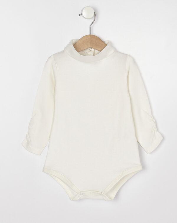 Body lupetto basico in jersey a manica lunga color panna - Prénatal