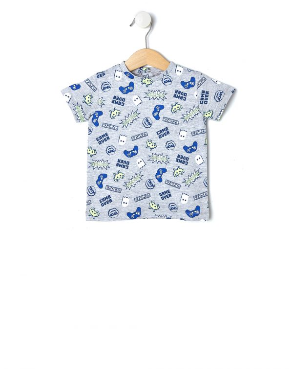 T-shirt mezza manica con stampa all-over - Prénatal
