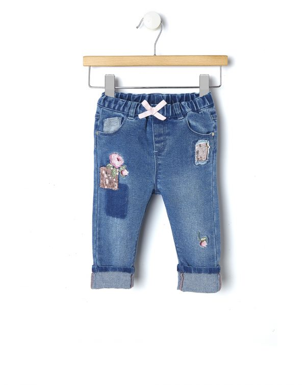 Pantalone in denim con paillettes - Prénatal