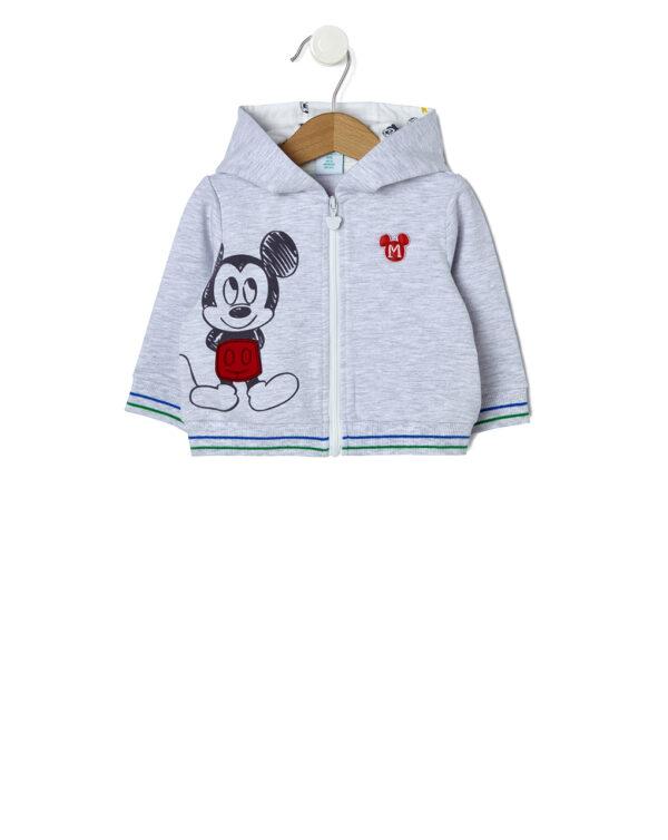Cardigan in felpa con stampa Mickey Mouse - Prénatal