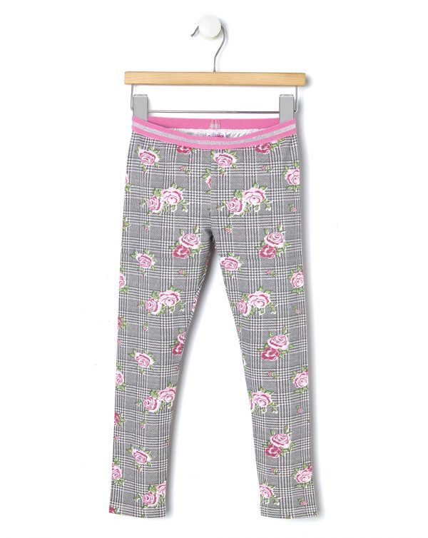 Leggings in jersey con stampa all-over di rose - Prénatal