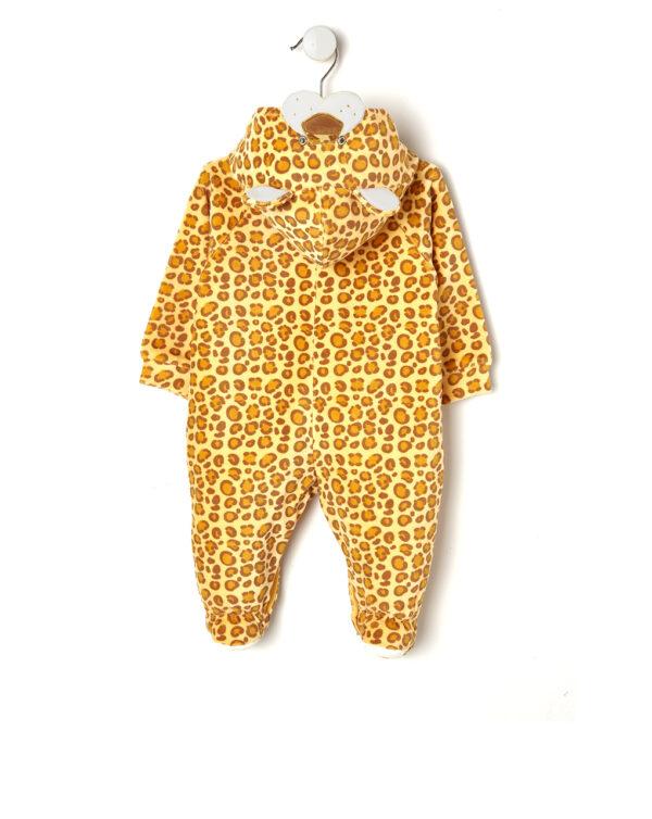 Tutina con cappuccio effetto leopardo - Prénatal
