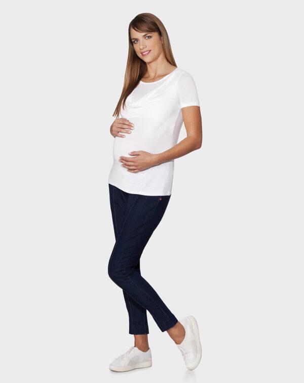 T-shirt maniche corte per allattamento bianca - Prénatal