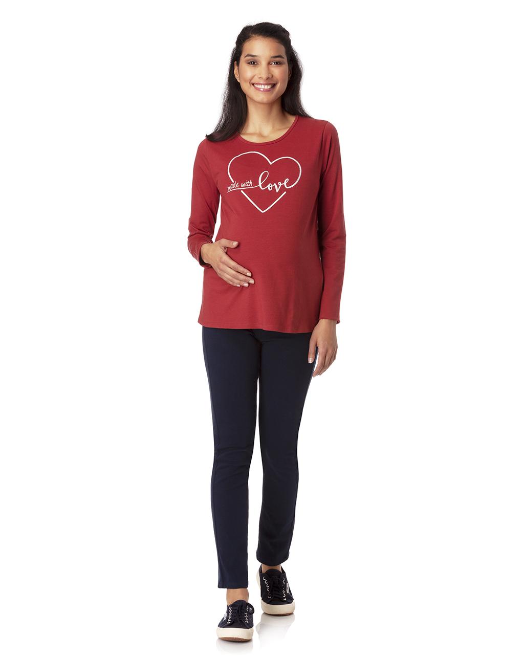T-shirt con maniche lunghe e stampa glitterata - Prénatal