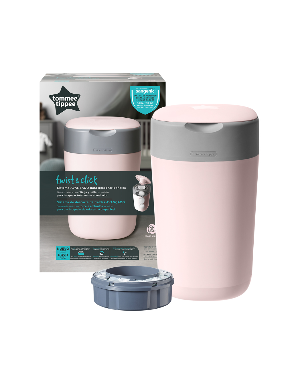 Twist&click contenitore rosa - Tommee Tippee