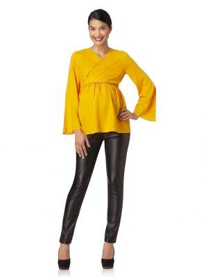 Pantalone skinny effetto spalmato - Prénatal