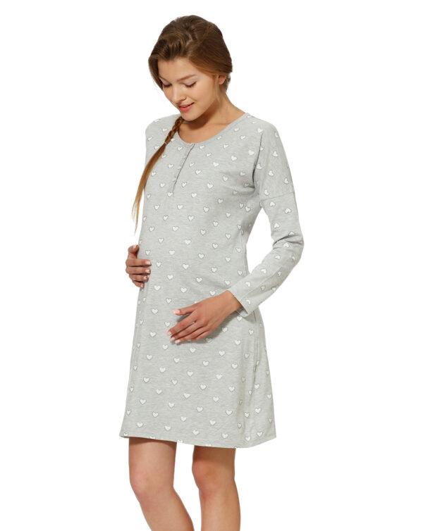 Camicia da notte con stampa all-over di cuori - Prénatal
