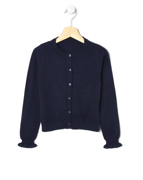 Cardigan tricot con balze e dettagli lurex - Prénatal