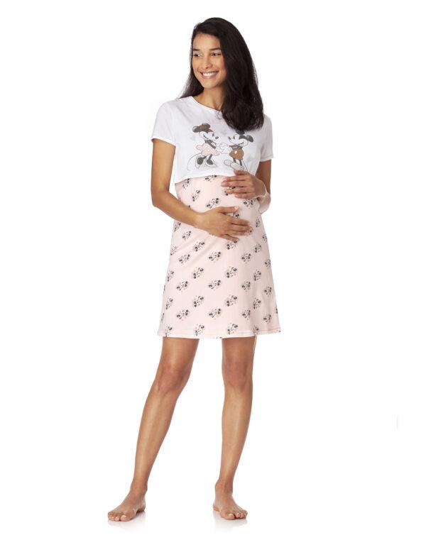 camicia da notte con stampa Mickey Mouse e Minnie - Prénatal