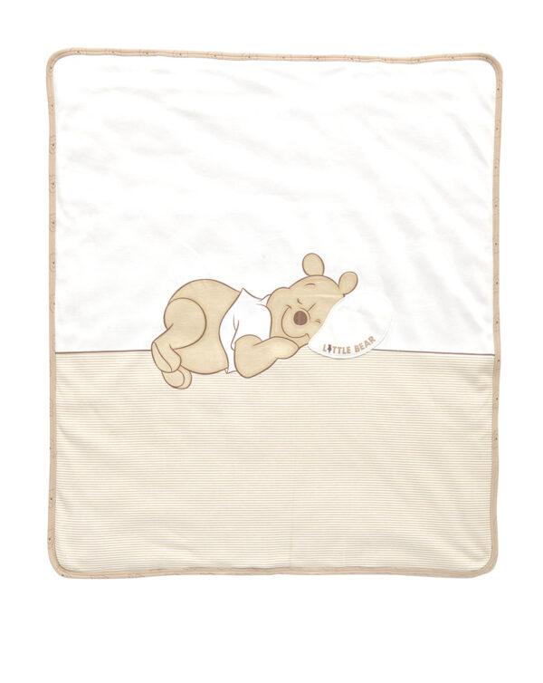 Coperta in cotone biologico con stampa Winnie the Pooh - Prénatal