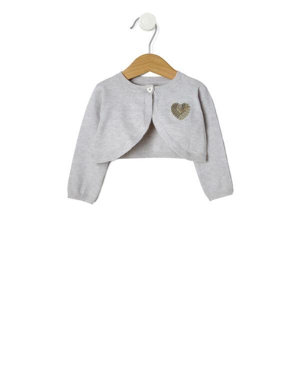 Cardigan tricot con cuore paillettes - Prénatal