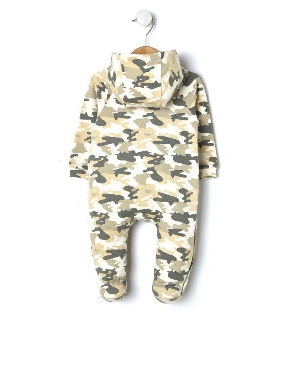 Tutina in felpa con stampa camouflage - Prénatal