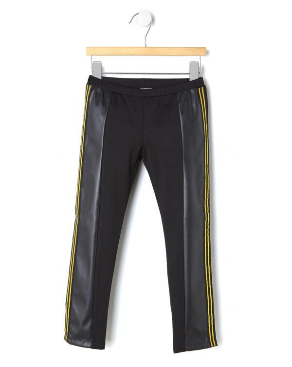 Leggings in jersey con inserti in ecopelle - Prénatal