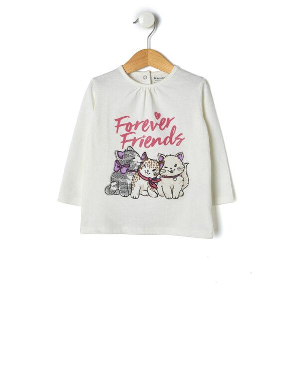 T-shirt in jersey con stampa gattini - Prénatal