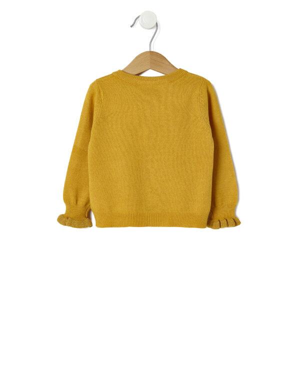 Cardigan in tricot giallo con polsini lurex - Prénatal