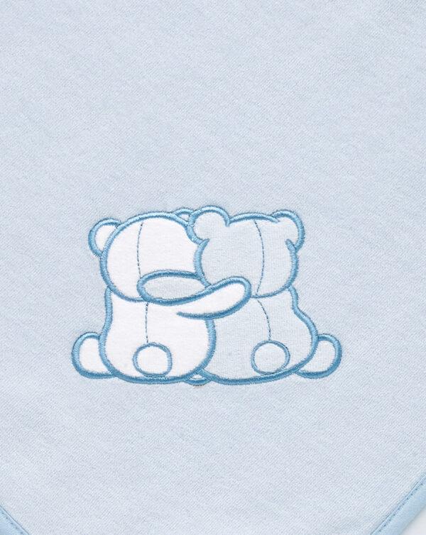 Coperta letto in ciniglia azzurra con orsetti - Prénatal