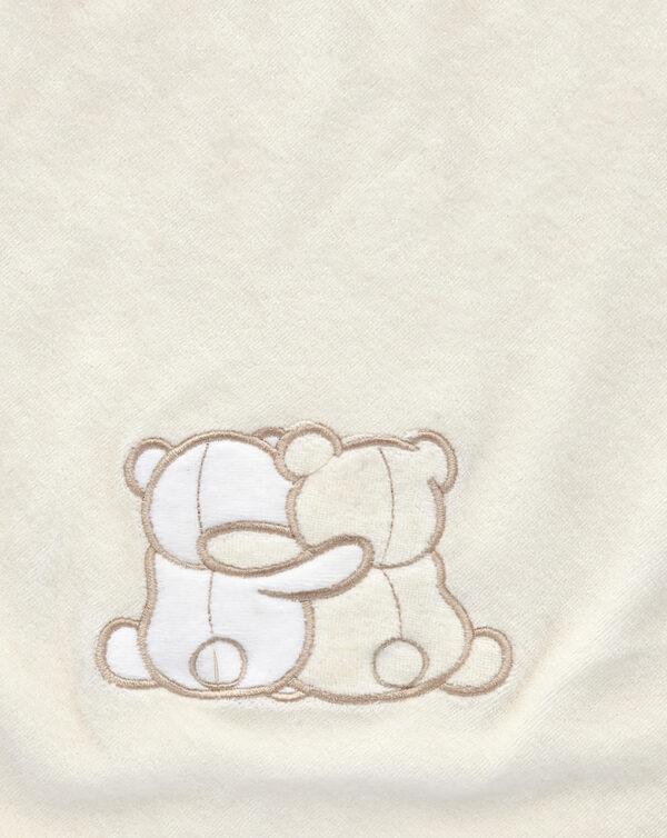 Coperta letto in ciniglia panna con orsetti - Prénatal