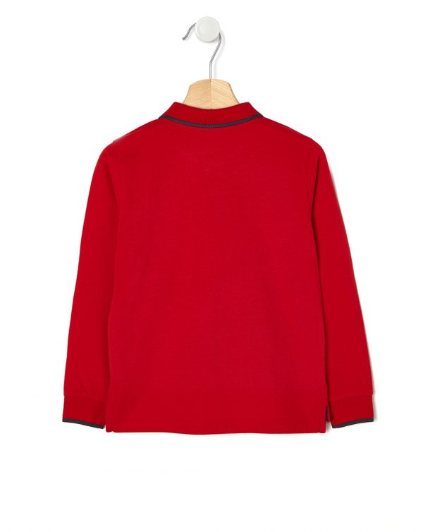 Polo rossa con taschino - Prénatal