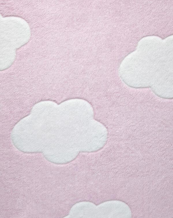 LETTO - Coperta letto in finta pelliccetta rosa con nuvole - Prénatal