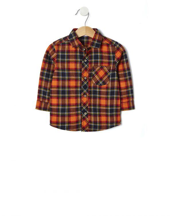 Camicia in flanella fantasia check - Prénatal