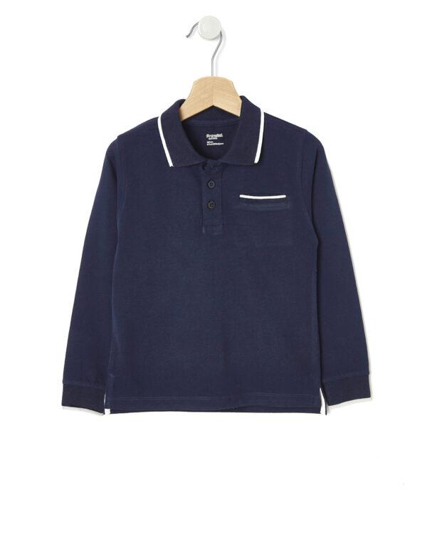 Polo blu con taschino - Prénatal