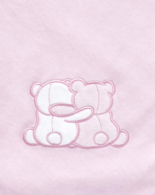 Coperta letto in ciniglia rosa con orsetti - Prénatal