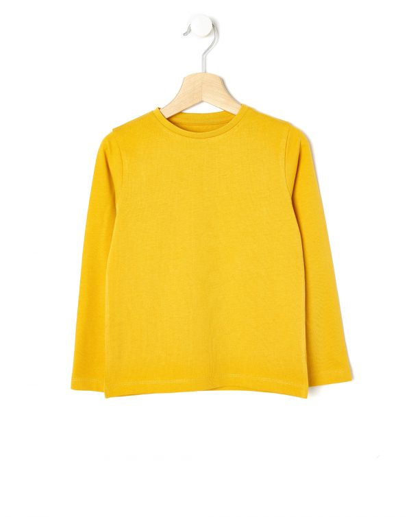 T-shirt giallo ocra maniche lunghe - Prénatal