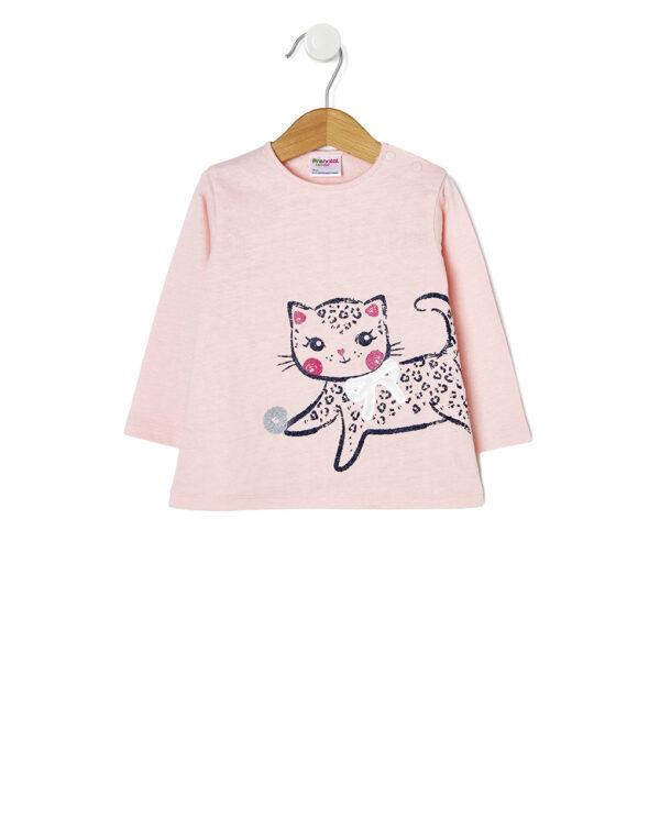 T-shirt in jersey con stampa glitter - Prénatal