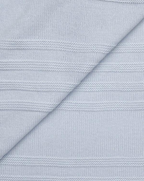 Coperta in tricot azzurra con lana per culla e carrozzina - Prénatal