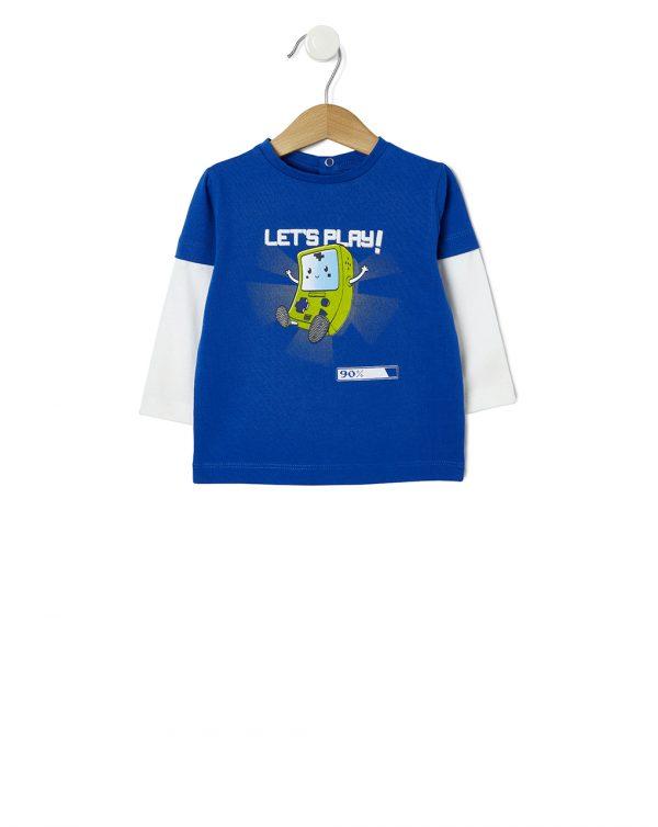 T-shirt finto doppio con stampa - Prénatal