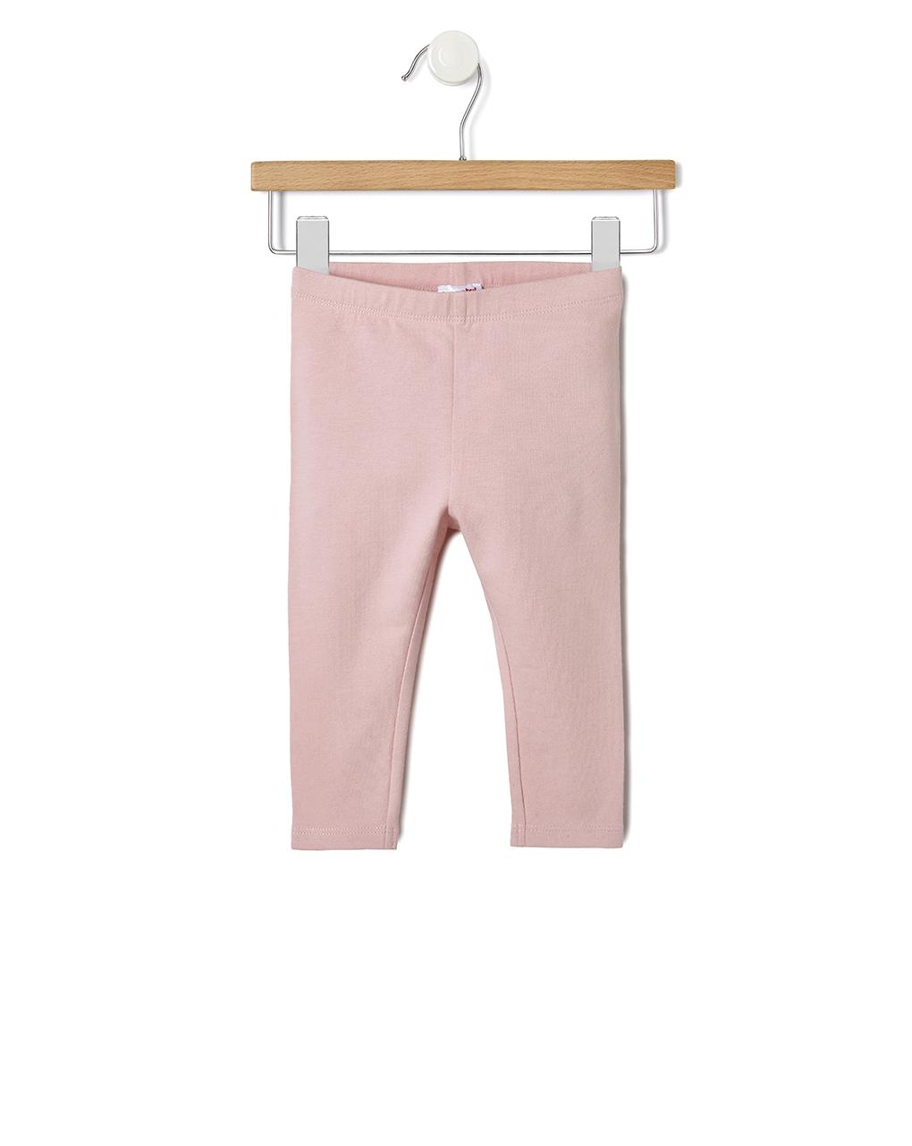 Leggings basici in cotone rosa chiaro - Prénatal