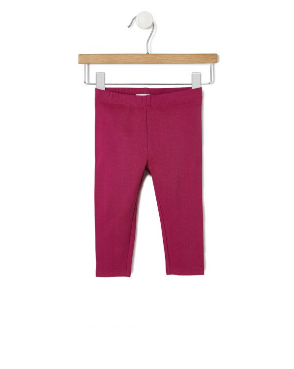 Leggings basici in cotone bordeaux - Prénatal