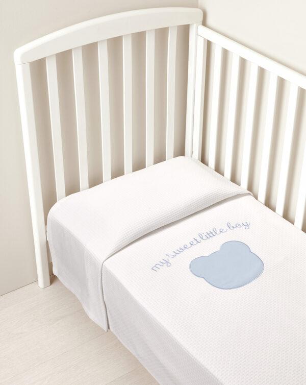 Coperta letto estiva a nido d'ape My sweet little boy - Prénatal