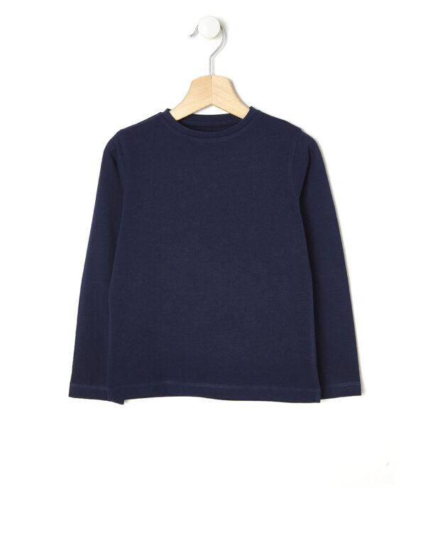 T-shirt blu scuro maniche lunghe - Prénatal