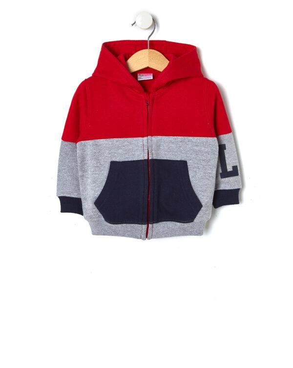 Cardigan in felpa tricolore - Prénatal