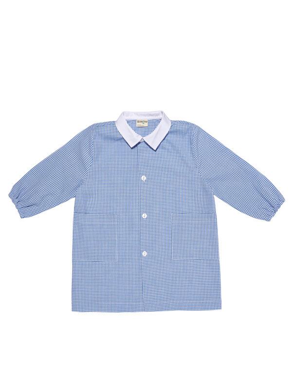 Grembiulino vichy azzurro - Prénatal