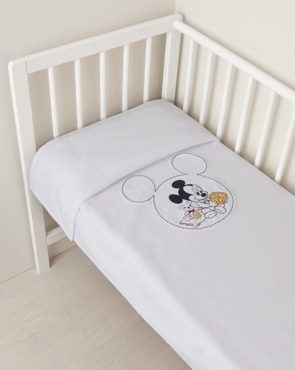 Coperta pile per culla e carrozzina con patch Mickey Mouse - Prénatal