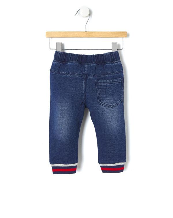Pantalone denim effetto matelassé - Prénatal